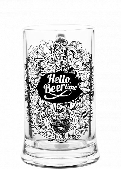 Кружка Icon «Hello, Beer time» 0.5l