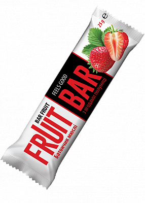 Батончик-мюсли «Fruit Bar» с ягодами клубники, 25 г
