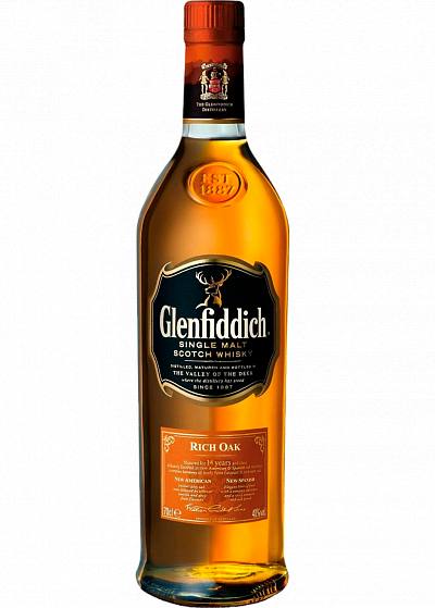 Виски Glenfiddich 14 Y.O. Rich Oak Tube 40°